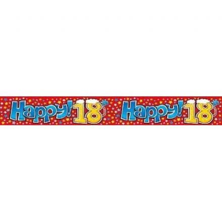Happy 18th Birthday Banner, Happy Hour